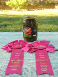 Bread & Butter Jalapenos with awards